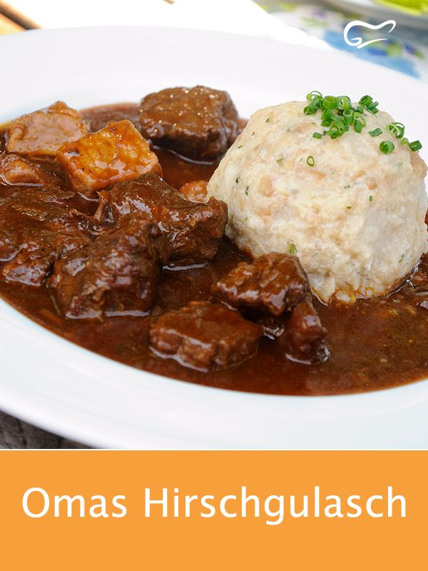 Hirschgulasch nach Omas Art ist sehr einfach in der Zubereitung und schmeckt ung …