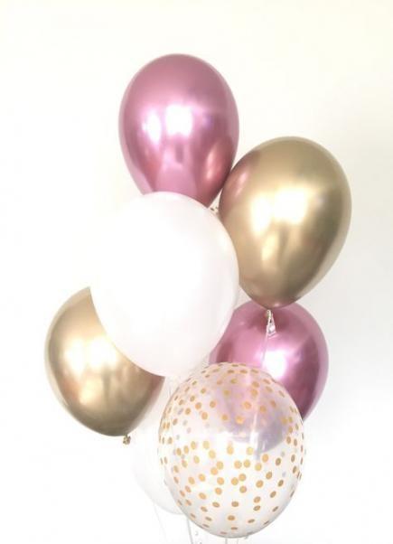 57 Trendy birthday background bridal shower   Gold bridal showers, Rose gold balloons, Gold balloons