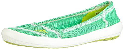 adidas Boat Slip-On Sleek, Damen Geschlossene Ballerinas, Grün (Semi Solar Yellow/Semi Flash Green S15/Chalk White), 42 2/3 EU (8.5 Damen UK) - http://on-line-kaufen.de/adidas/42-2-3-eu-adidas-boat-slip-on-sleek-damen-ballerinas