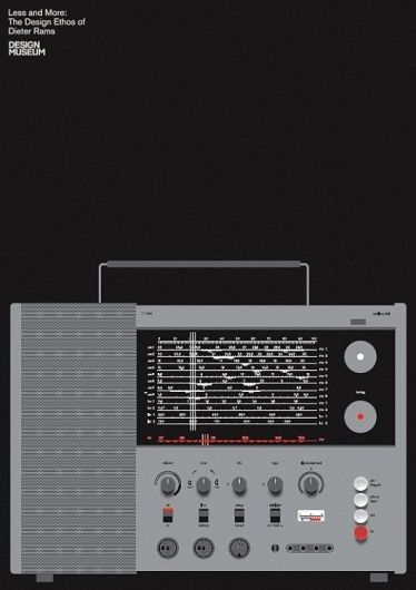 """""""Less and More: Dieter Rams"""" exhibition poster."""