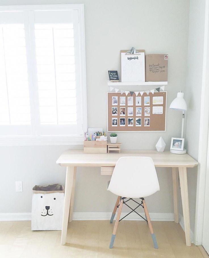 very minimal white clean office space office desk office rh pinterest com