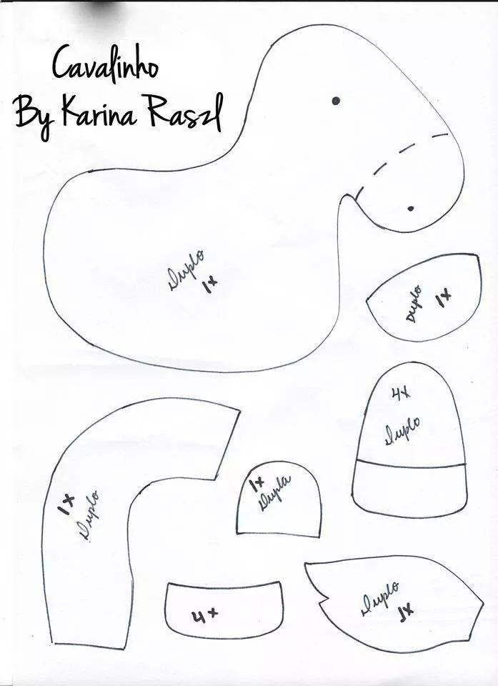 Caballo molde | granja | Pinterest | Felt, Felt patterns y Felt ...