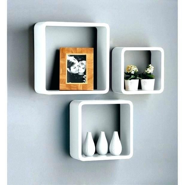 Office Cubicle Accessories Shelf Wall Storage Shelves Floating