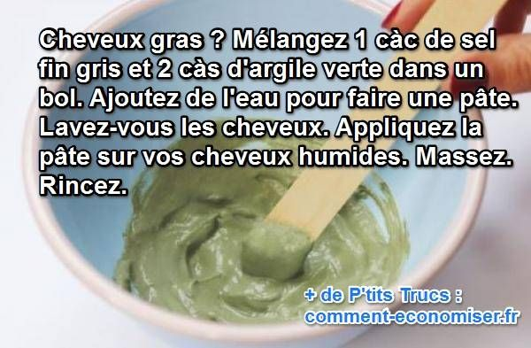 Marre d'avoir les cheveux gras alors que vous venez de les laver ? Découvrez l'astuce ici : http://www.comment-economiser.fr/masque-cheveux-gras.html?utm_content=bufferc2577&utm_medium=social&utm_source=pinterest.com&utm_campaign=buffer