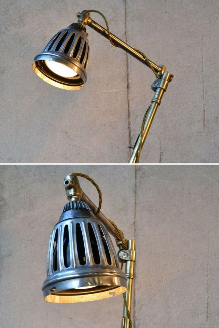 little steampunk rustic vintage lamp