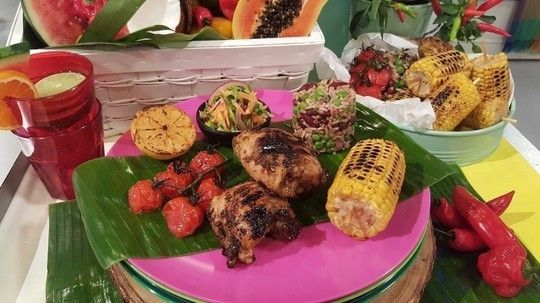 Sally Bee's Caribbean jerk chicken
