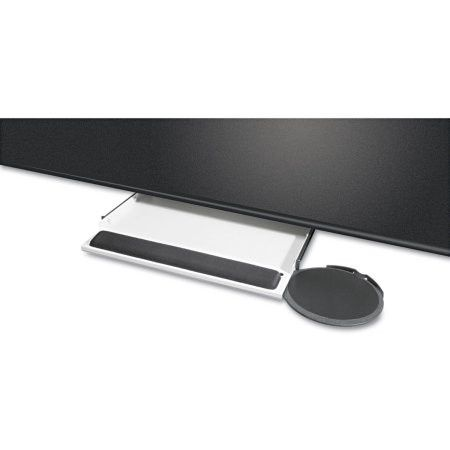 Kelly Computer Supply Underdesk Keyboard Tray with Oval Mouse Platform, Black