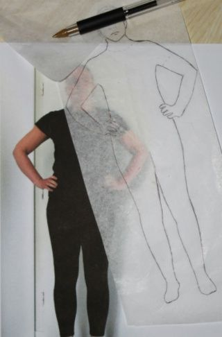 Comment savoir si un patron conviendra à notre morphologie ? Voici une méthode amusante qui permet de le voir ! Dessiner sa propre silhouette d'après une photo permet d'obtenir un gabarit pour tester le seyant d'un dessin de patron sur notre morphologie...
