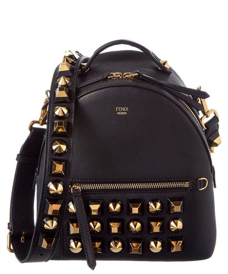 FENDI Fendi Gold Edition Mini Studded Leather Backpack'. #fendi #bags #leather #lining #backpacks #