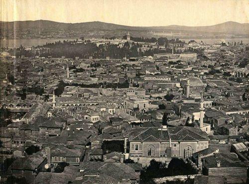 1857 yılı, Beyazıt Kulesi'nden bir manzara
