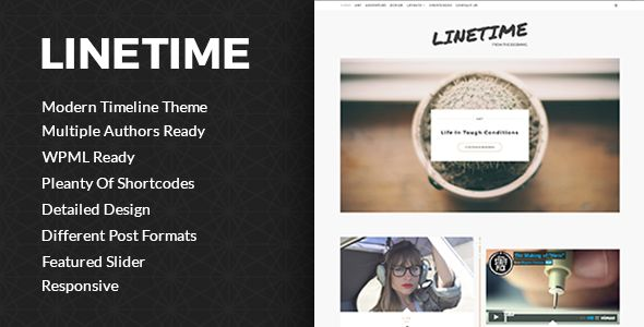 LineTime is modern time line theme which will realy stand out your blog and will give your visitors nice perspective of your blogging. It is designed with great care so you, your authors and your visitors can enjoy. It is ready for multiple authors.  It is great use for Life blog, Travel blog, Food blog Fashion blog, Designers blog, Programmers blog, Technology blog,... #food #blog #design #theme
