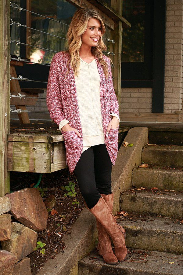 The Blakely Cardigan in Cabernet