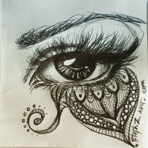 Yay! Ein weiteres #eyedoodle … ist eine Weile her, seit ich eines davon gemacht habe. Meine Hände vermissen #Zeichnen #Augen