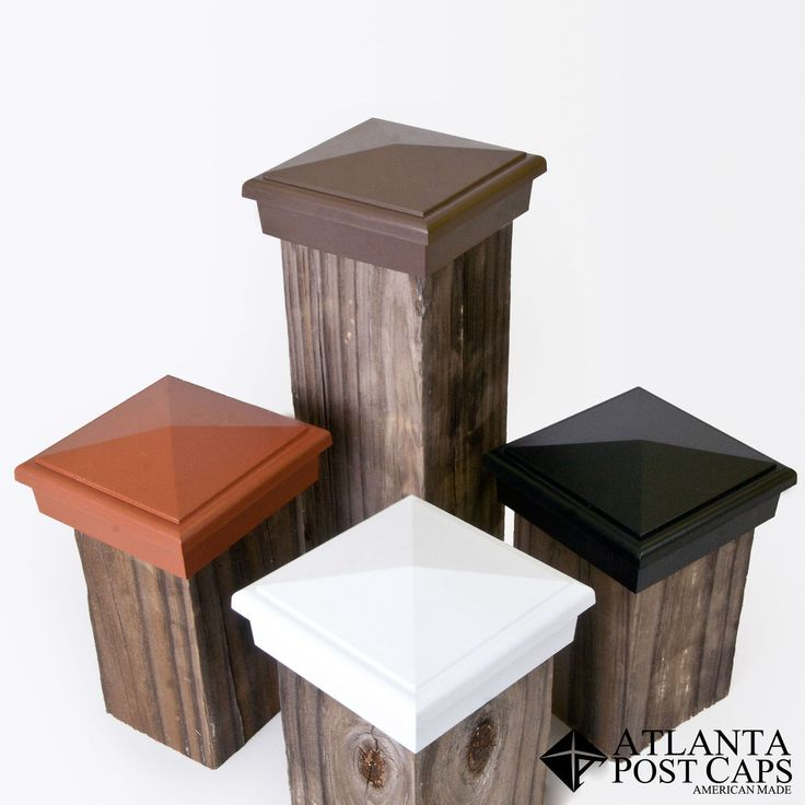 4x4 Brown Economy Pyramid Deck and Fence Post Caps - American Made