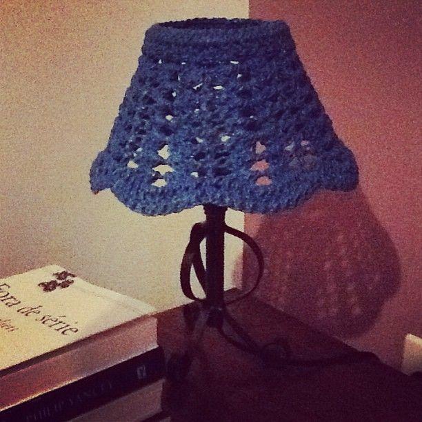 abajur de crochet