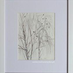 Zimowe drzewo- szkic