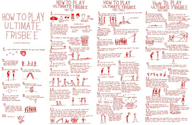 Cute drawings, funny narrative, and it's surprisingly a pretty accurate guide to ultimate frisbee