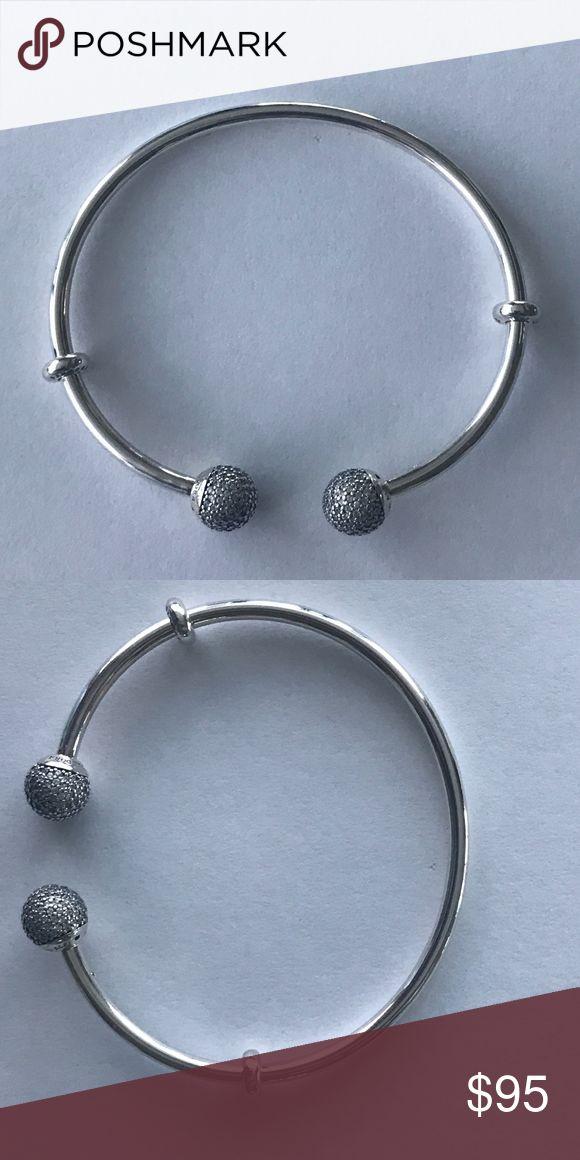Pandora Open Bangle With Clear CZ Brand New Pandora Jewelry