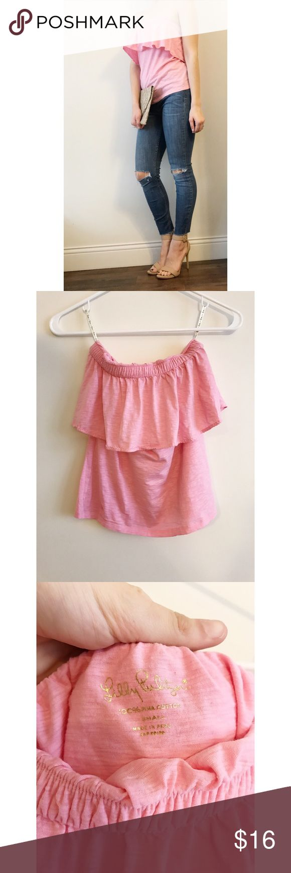 Lily Pulitzer Hubba Bubba Tube Top Love this one, great condition. I have it in white too that I am keeping but I don't really wear pink so it's time to say good bye! Sorry no trades. Lilly Pulitzer Tops