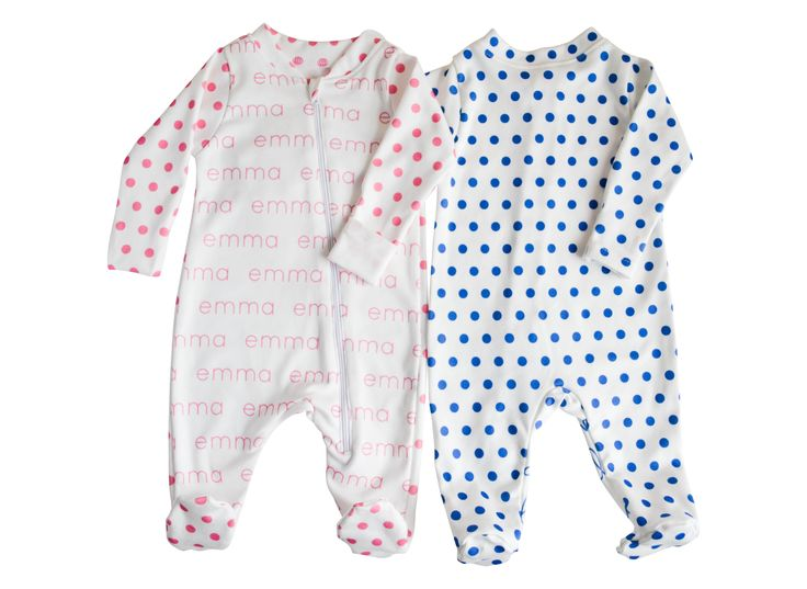 37 best jennifer ann images on pinterest ann personalised baby personalized footed onesies polka dots jenniferann negle