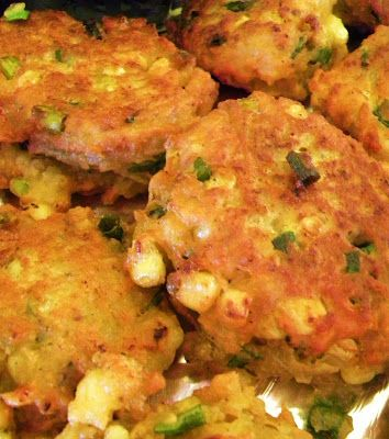 My Hawaiian Home: Jamaican Chickpea, Coconut and Corn Fritters (use an egg replacer product to make this vegan)