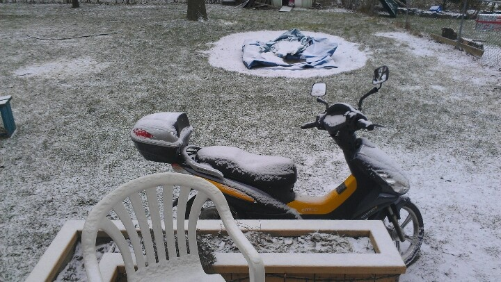 My ebike in snow