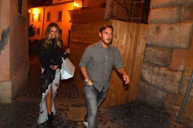 Francesco Totti and his wife Ilary Blasi.