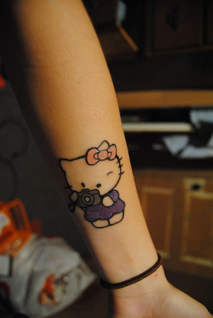 Hello Kitty Tattoo...I MUST have this tattoo!! but i dont now where i would put it i already have where i want all my tattoos planned out