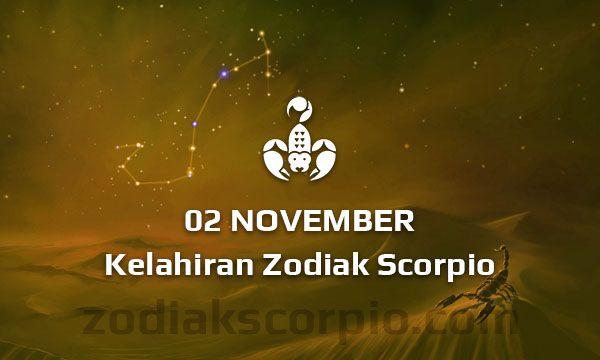 Zodiak Scorpio Lahir Tanggal 2 November