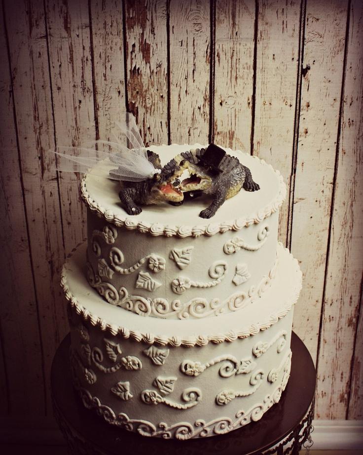 Alligator Wedding Cake Topper