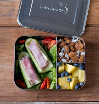 LunchBots Trio Bento Box Stainless Steel Food and Lunch Container - perfect for healthy lunches whilst farming!
