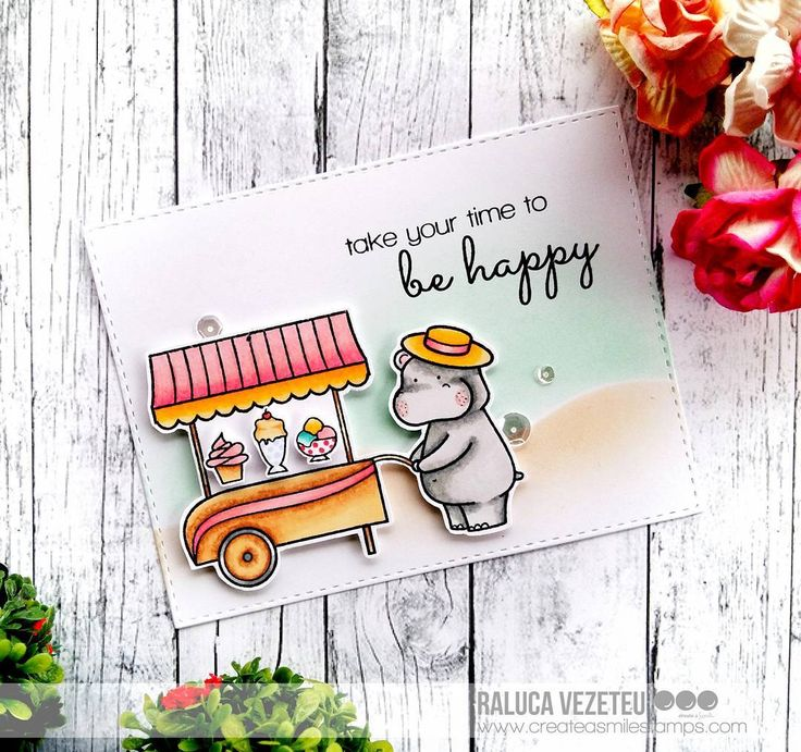 "267 Likes, 15 Comments - Raluca Vezeteu (@ralucavezeteu) on Instagram: ""Today I'm back on the @createasmilestamps blog with this card using the adorable #servedup  stamp…"""