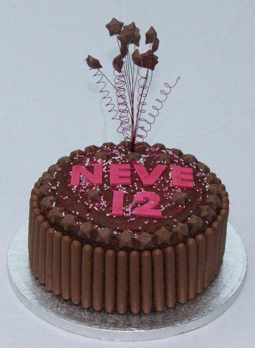 Chocolate Finger Cake Cascading Cake