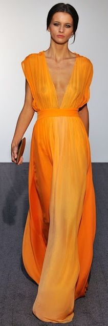 ombre orange / Halston