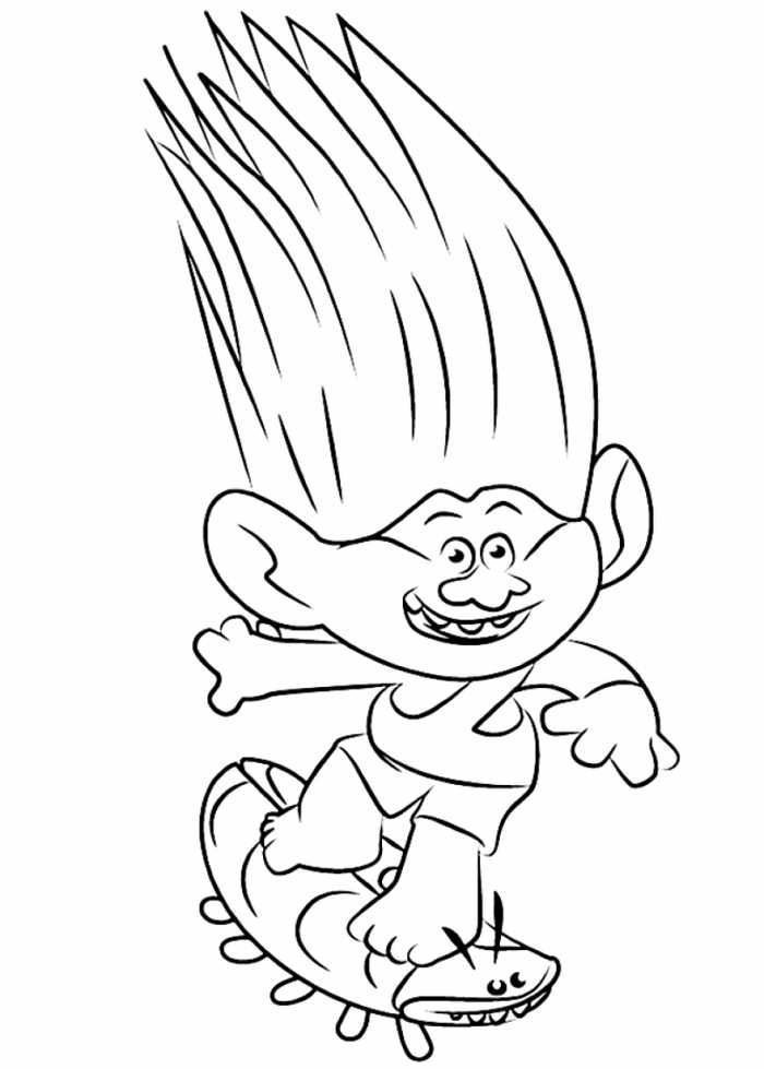 Printable Trolls Coloring Pages Cartoon Coloring Pages Poppy