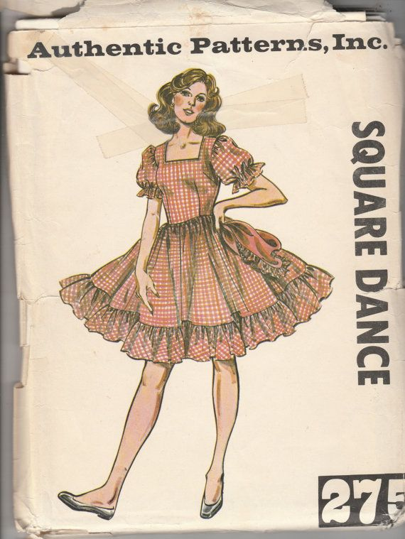 Authentic Patterns 275 Ladies Western Square Dance by ManHoard