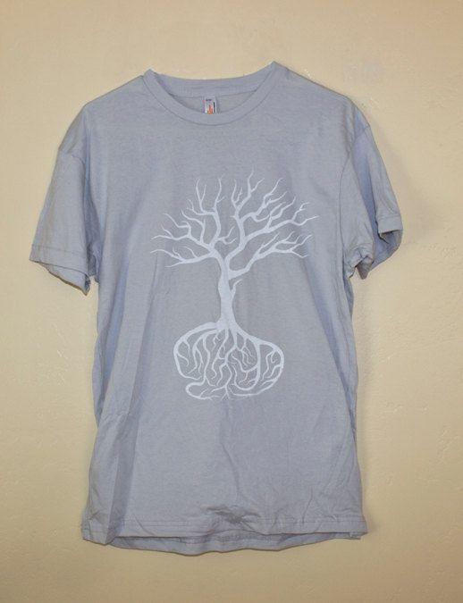 American apparel silk screen t shirt original art oak tree for Silk screen t shirt