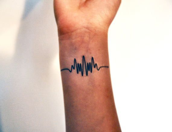 Wavelength Temporary Tattoo, Frequency Tattoo, Music Temporary Tattoo, Music Gift Idea, Arctic Monkeys Tattoo, Indie Tattoo, Hipster Tattoo  £2.00+ plus shipping VAT included (where applicable). #tattoos