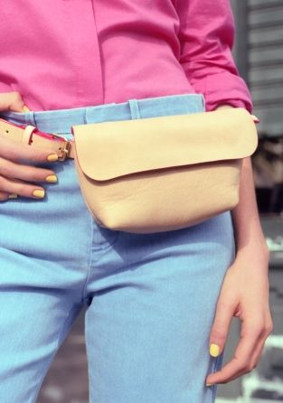 Clare Vivier Leather Bum Bag | Natural | & Other Stories