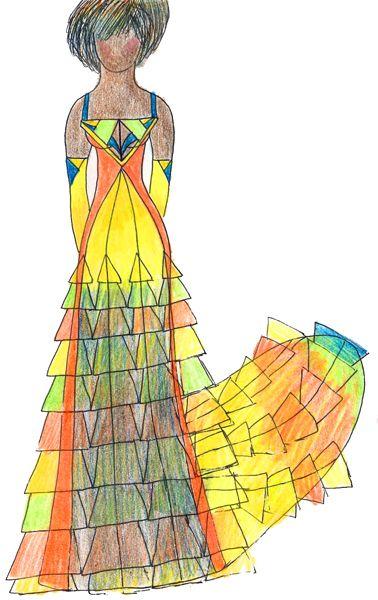 Радужная птица (Rainbow bird). Мой эскиз/My sketch  #fashion #Style #мода #design #designer #дизайнер #стиль