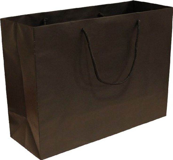 """25 Black Color Heavy Paper Tint-tote with Soft Cord Handle, 16""""x6""""x12"""" Tall"""