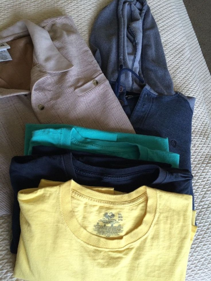 5 Men's 3XL 4XL Lot Fruit Loom Tshirt Yellow Green Black Airwalk Hoodie Etc   eBay