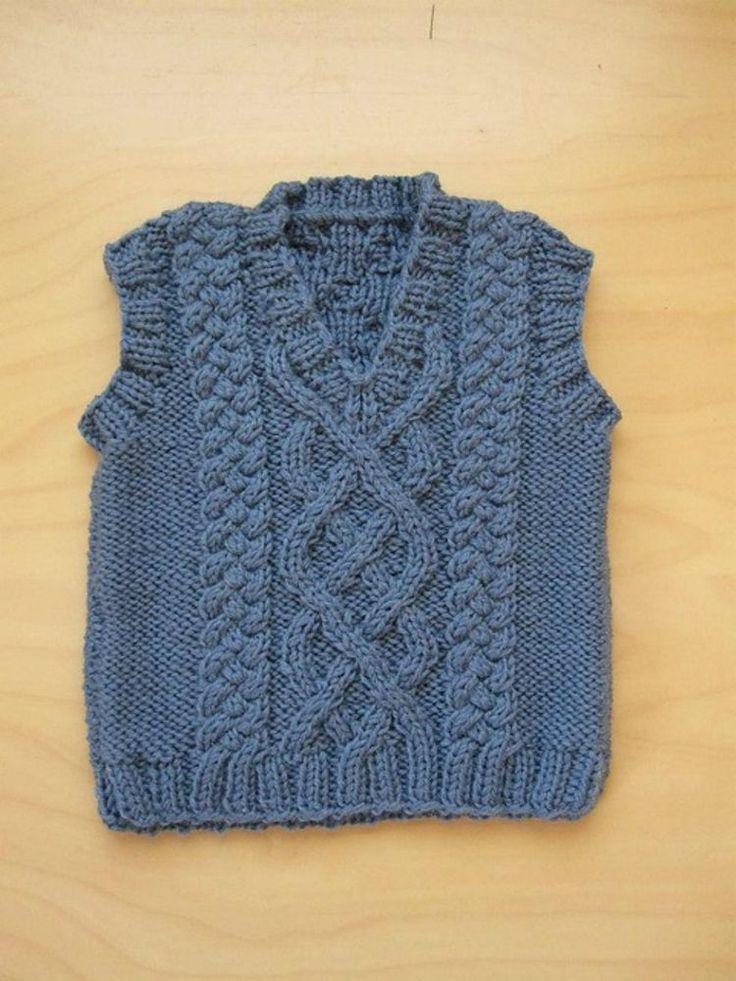 Make an Adorable Baby's Aran Vest
