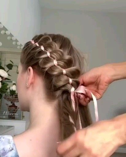 Amazing braided technique – # amazing # easy hairstyles # technique # braided