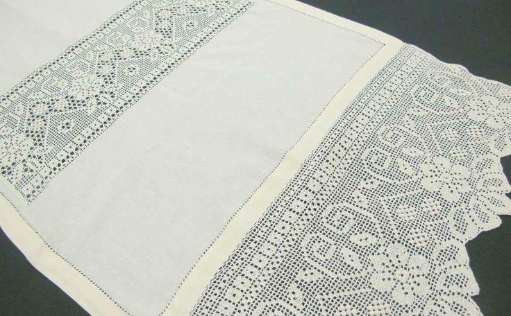 manteles y cortinas de tela y crochet - Buscar con Google