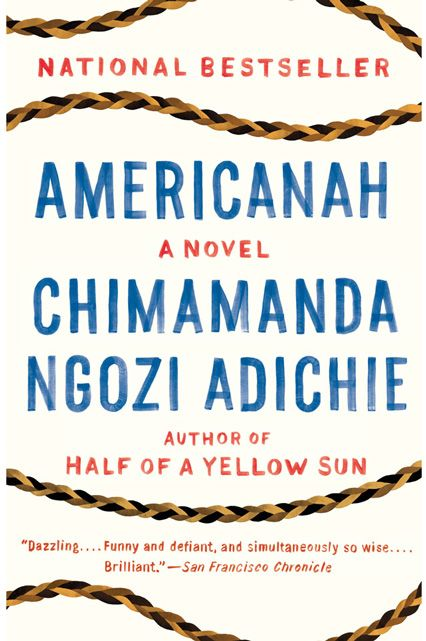 "Americanah by Chimamanda Ngozi Adichie ""Wherever you decide to read this book this summer, make sure it's a super-comfy spot. Chimamanda Ngozi Adichie's third novel, Americanah carefully and curiously tells the immigrant story along by way of observation and cultural commentary on American society. Six hundred pages ..."