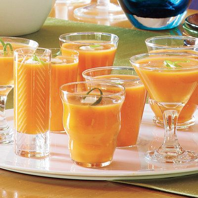 Spiced Butternut-Pumpkin Soup - Best Party Appetizers and Recipes - Southern Living