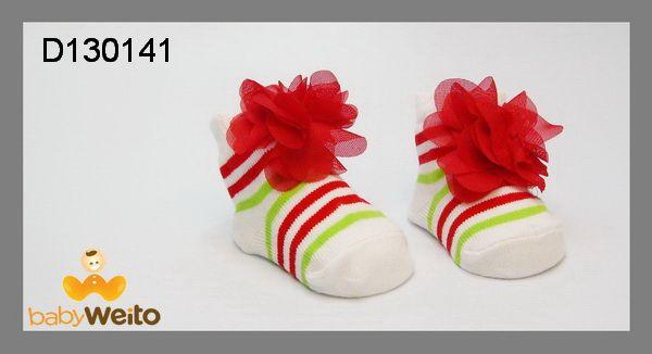 D130141  Kaos kaki baby untuk umur 0-3m  Bahan halus dan lembut  Warna sesuai gambar  IDR 35*