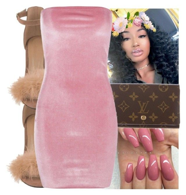 """""""❄"""" by kodakdej ❤ liked on Polyvore featuring Louis Vuitton and Boohoo"""