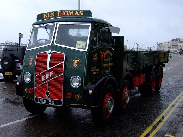 ERF Dropside lorry by classic vehicles, via Flickr
